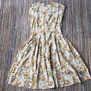 Dresses & Skirts - VINTAGE handmade floral dress